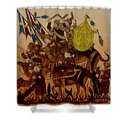 Turkish Muslims The Crusades Shower Curtain by Photo Researchers