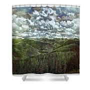 Vail Vista Shower Curtain by Madeline Ellis