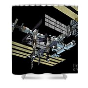 Computer Generated View Shower Curtain by Stocktrek Images