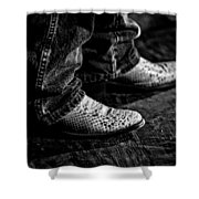 20120928_dsc00448_bw Shower Curtain by Christopher Holmes