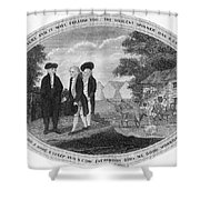 POOR RICHARD ILLUSTRATED Shower Curtain by Granger