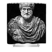 ARISTOTLE (384-322 B.C.) Shower Curtain by Granger