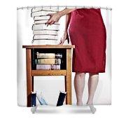 Books Shower Curtain by Joana Kruse