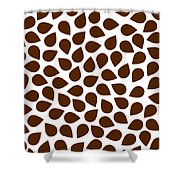 Brown Abstract Shower Curtain by Frank Tschakert