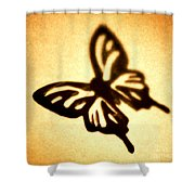 Butterfly Shower Curtain by Tony Cordoza