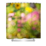 Flower garden in sunshine Shower Curtain by Elena Elisseeva