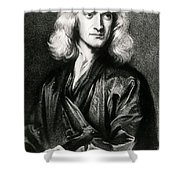 Isaac Newton, English Polymath Shower Curtain by Science Source