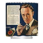Lucky Strike Cigarette Ad Shower Curtain by Granger