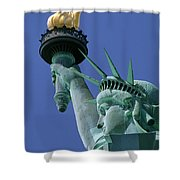 Statue Of Liberty Shower Curtain by Ron Watts