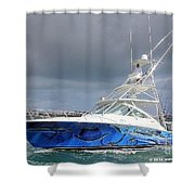 Boat Wrap Shower Curtain by Carey Chen
