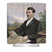 David Livingstone Shower Curtain by Granger