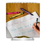 Dyslexia Testing Shower Curtain by Photo Researchers, Inc.