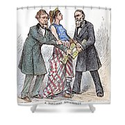 Election Cartoon, 1876 Shower Curtain by Granger