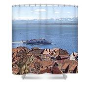Lake Constance Meersburg Shower Curtain by Joana Kruse