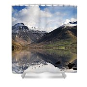 Mountains And Lake, Lake District Shower Curtain by John Short