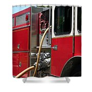 Barnett Fire Shower Curtain by Henrik Lehnerer