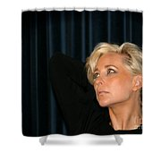 Blond Woman Shower Curtain by Henrik Lehnerer
