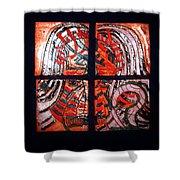 Jesus - Tile Shower Curtain by Gloria Ssali