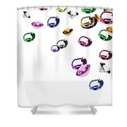 Colorful Gems Shower Curtain by Setsiri Silapasuwanchai
