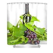 Red Wine Shower Curtain by Joana Kruse