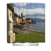 Brissago - Ticino Shower Curtain by Joana Kruse