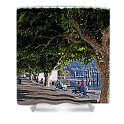 Ascona - Ticino Shower Curtain by Joana Kruse