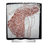 Jesus The Good Shepherd Shower Curtain by Gloria Ssali