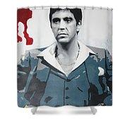 Scarface Shower Curtain by Luis Ludzska