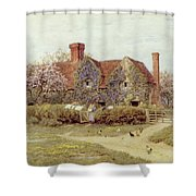 A Buckinghamshire House At Penstreet Shower Curtain by Helen Allingham