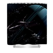 A Chartered Private Corvette Shower Curtain by Brian Christensen