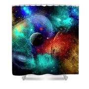 A Colorful Part Of Our Galaxy Shower Curtain by Mark Stevenson