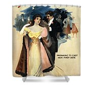 A Contented Woman, C1898 Shower Curtain by Granger