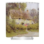 A Country Cottage Shower Curtain by Helen Allingham