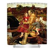 A Dream Of The Past Shower Curtain by Sir John Everett Millais