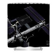 A Graphic Rendering Shower Curtain by Stocktrek Images
