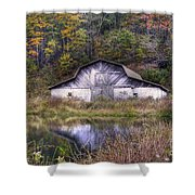 A Is For Autumn Shower Curtain by Benanne Stiens