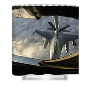 A Kc-135 Stratotanker Connects With An Shower Curtain by Stocktrek Images