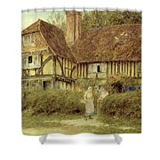 A Kentish Cottage Shower Curtain by Helen Allingham