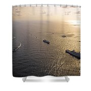 A Multi-national Naval Force Navigates Shower Curtain by Stocktrek Images