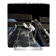 A Panoramic View Of The International Shower Curtain by Stocktrek Images