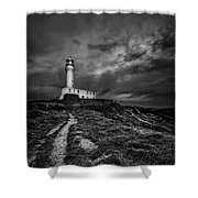 A Path To Enlightment Bw Shower Curtain by Evelina Kremsdorf