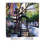 A Saturday Stroll  Shower Curtain by Anthony Falbo