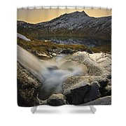 A Small Creek Running Shower Curtain by Arild Heitmann