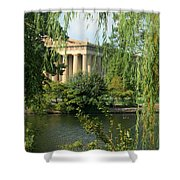 A View of the Parthenon 1 Shower Curtain by Douglas Barnett