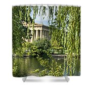 A View Of The Parthenon 10 Shower Curtain by Douglas Barnett