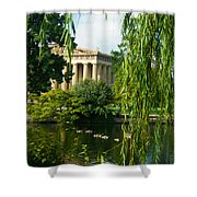 A View of the Parthenon 15 Shower Curtain by Douglas Barnett
