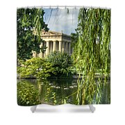 A View Of The Parthenon 16 Shower Curtain by Douglas Barnett
