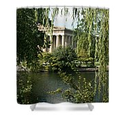 A View Of The Parthenon 6 Shower Curtain by Douglas Barnett
