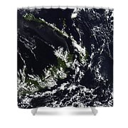 A Volcanic Plume From The Rabaul Shower Curtain by Stocktrek Images