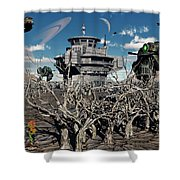 A World Stripped Bare From The Effects Shower Curtain by Mark Stevenson